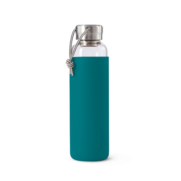 Glass Water Bottle ocean Black Blum