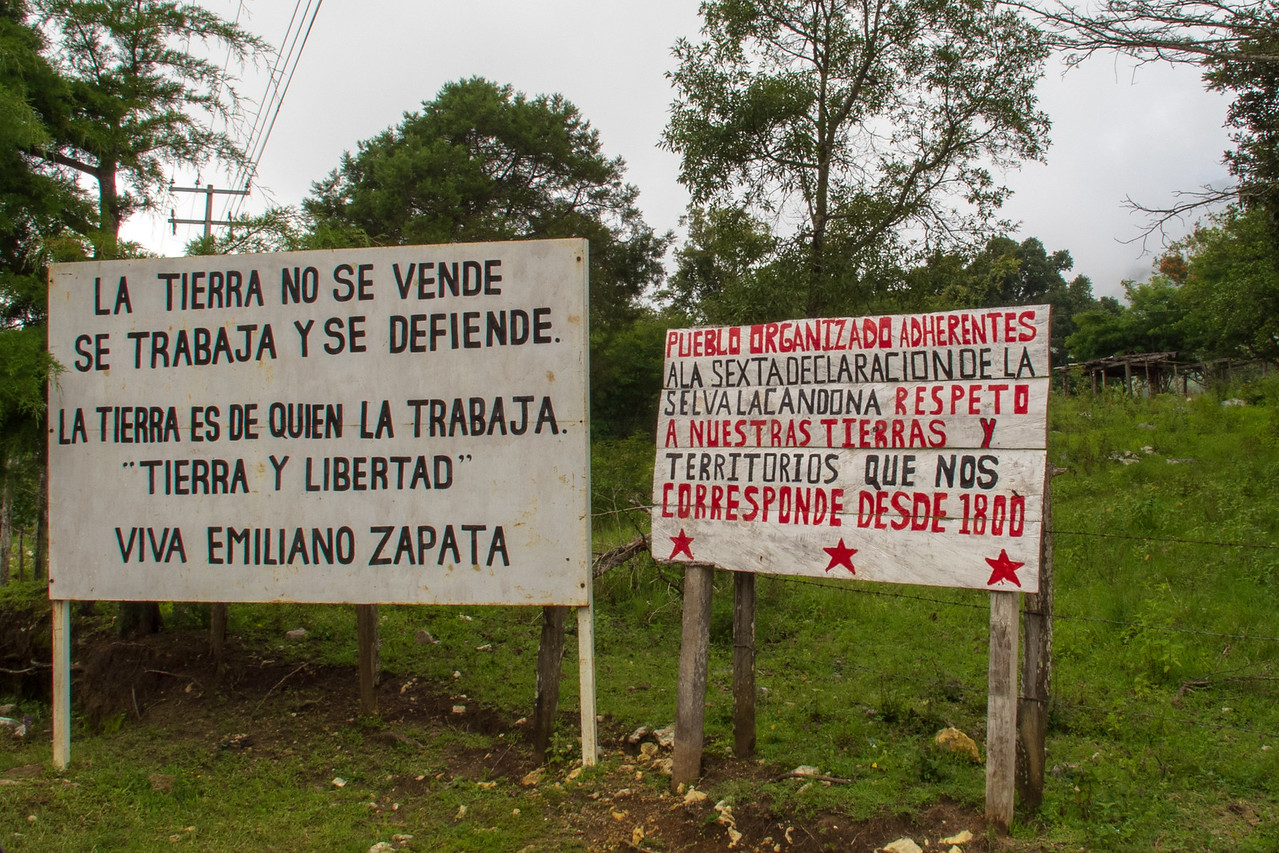Declared Rights Signs Outside Zapatista Village