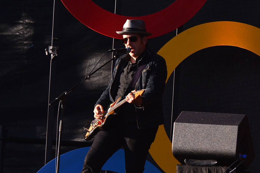 . NEW YORK, NY - SEPTEMBER 28:  Singer-songwriter Elvis Costello performs at the 2013 Global Citizen Festival in Central Park to end extreme poverty on September 28, 2013 in New York City, New York.  (Photo by Stephen Lovekin/Getty Images for Global Citizen Festival)
