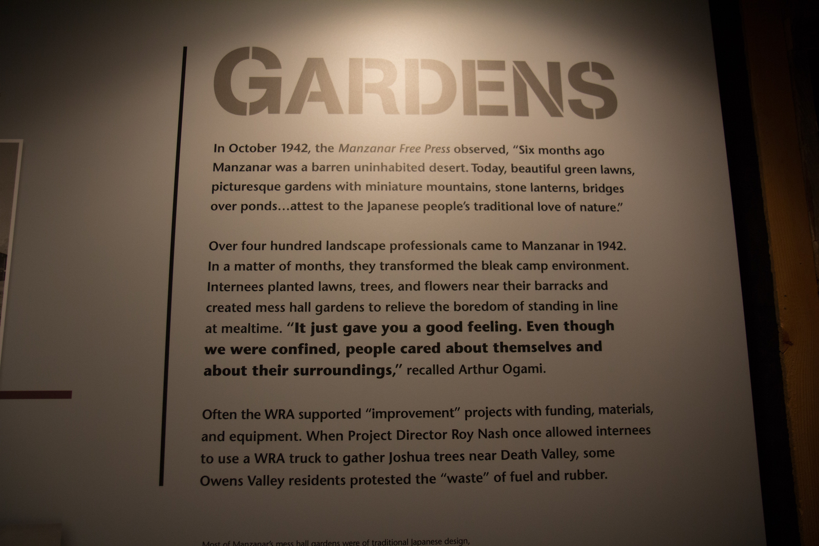 Manzanar garden