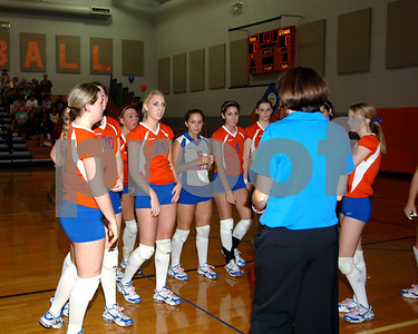 Marshall County Varsity Volleyball vs. Community Christian Academy  -  October 7, 2008.  Marshall County Won 2-0.