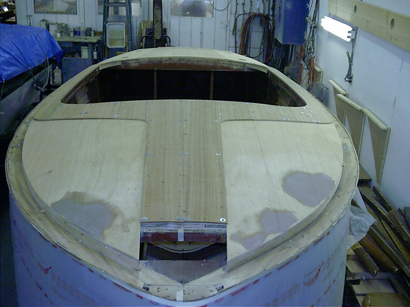 Front deck fit with new mahogany to be bleached
