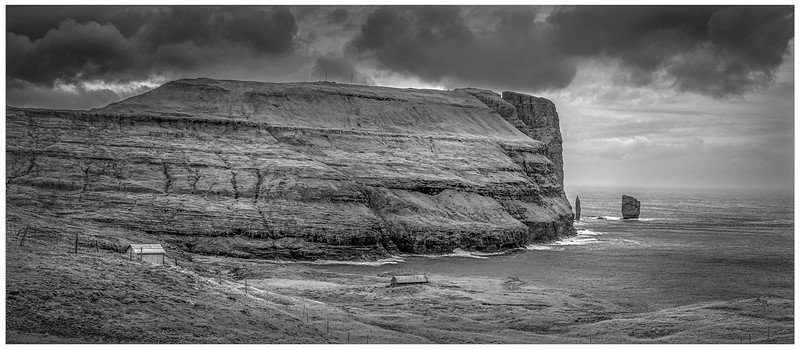 Faroe Coast 28     black and White Photography by Wayne Heim