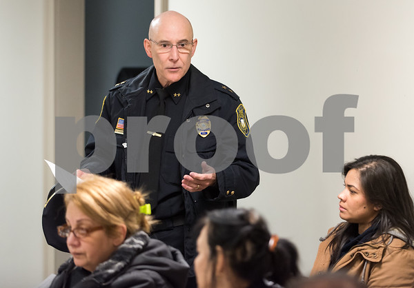 11/27/17 Wesley Bunnell   Staff Police Chief James Wardwell speaks at the North Oak NRZ meeting on Monday evening at the police substation prior to a presentation by State Attorney Brian Preleski regarding the duties of his office and how it impacts residents.