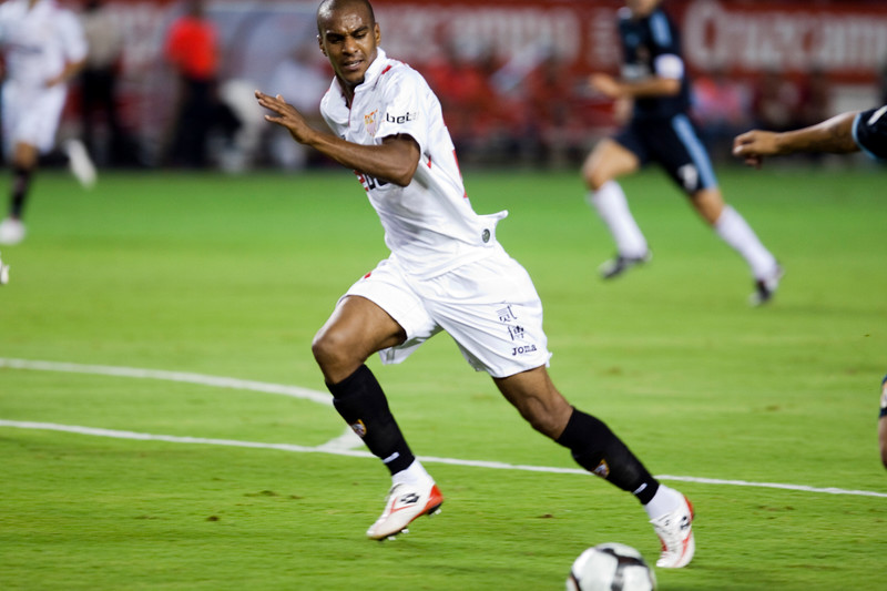 Abdoulay Konko. Spanish League game between Sevilla FC and Real Madrid, Sanchez Pizjuan Stadium, Seville, Spain, 4 October 2009