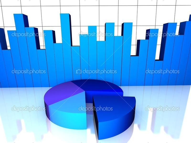 financial graphs and bars