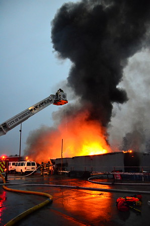 3 Alarm Structure Fire - Kleemann Auto, 401 N. Main St, Norwich, CT - 10/30/16