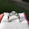 1.18ctw Art Deco Princess Halo Ring 21