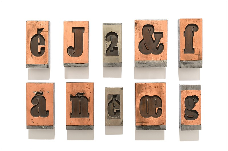 Stamped copper matrices