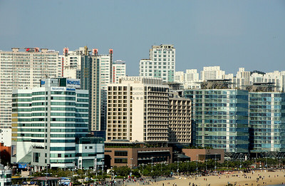 A part of the city skyline of Busan, the 2nd largest city in South Korea