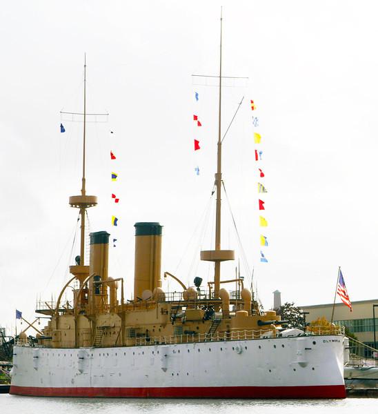 The Battleship Olympia, Dewey's flagship at the Battle of Manilla Bay
