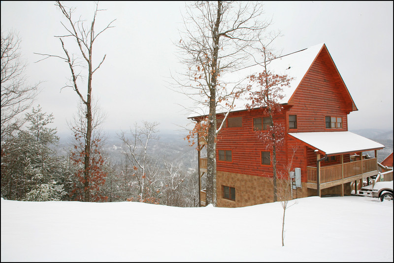 "Our cabin in the Smokies...we had about 6"" of snow on Jan. 10, 2011."