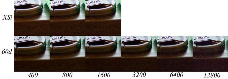 Canon XSi vs Canon 60d ISO Test