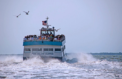 Ferry leaving Brown's River, Sayville