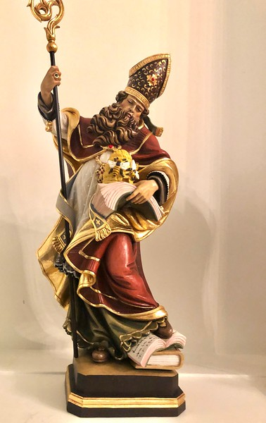 Statue of St Ambrose for the organ case