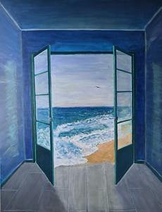 """""""The Door To The Sea"""" (acrylic) by Marina Bordovska"""