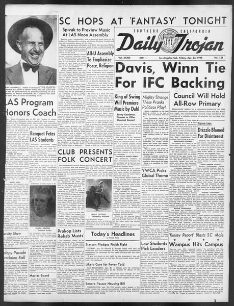 Daily Trojan, Vol. 39, No. 125, April 23, 1948