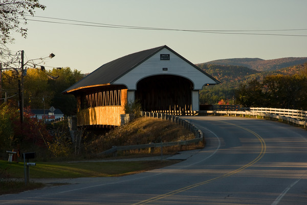 New England Covered Bridge at Sunset