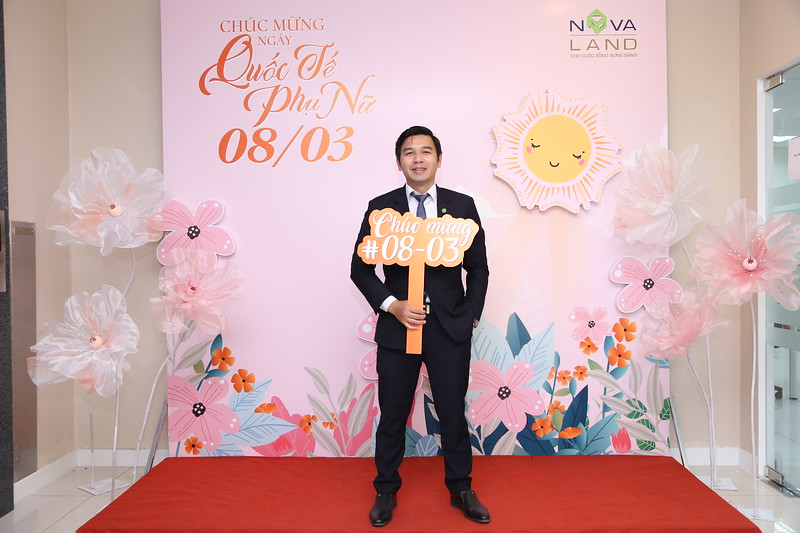 Novaland Group | Binh Khanh Office Women's Day March 8 instant print photo booth | Chụp hình lấy liền Sự kiện 8 Tháng 3 | Photobooth Saigon