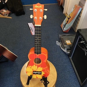 Amahi Orange Flower Soprano Ukulele