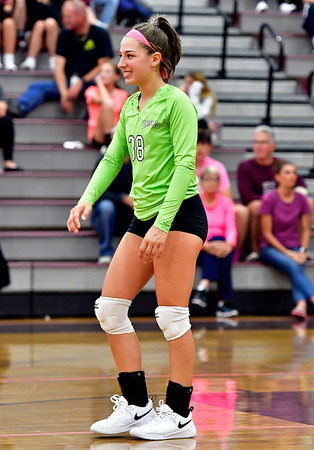 10/1/2019 Mike Orazzi   StaffrBristol Central's Gwen Torreso (38) during Tuesday's volleyball match with Platt at BC.