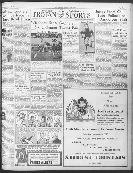 Daily Trojan, Vol. 28, No. 31, November 02, 1936