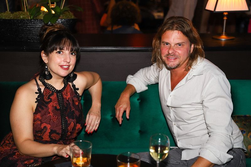 Jenny Langer and Ken Wenzel. photo by Bruce Allen, Wolfgang Puck Opening Reception 2019
