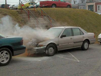 Reading High School Vehicle Fire