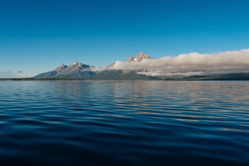 Morning kayak on Jackson Lake, Grand Teton National Park