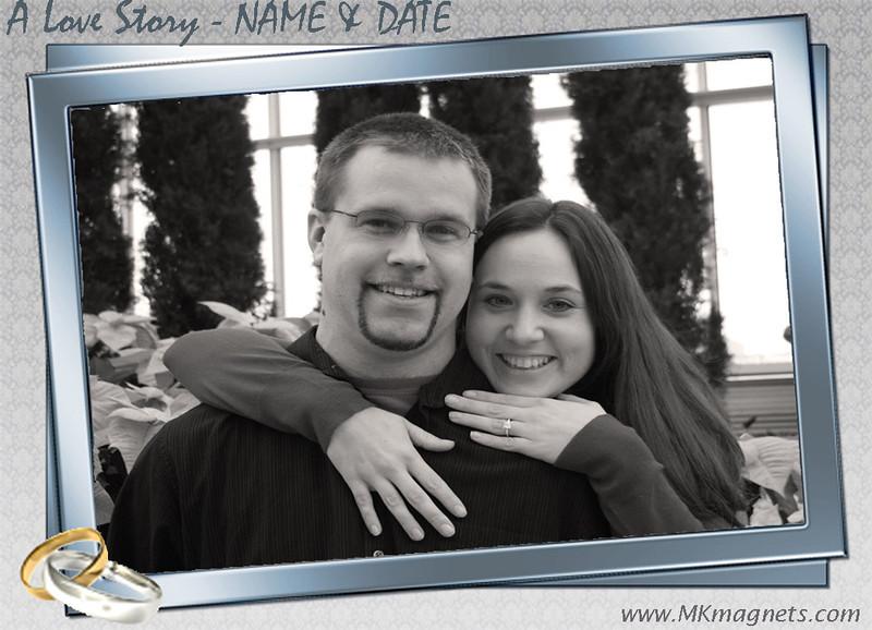 wedding magnet frame - modern black and white.jpg