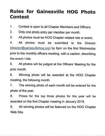 2019 Photo Contest Rules