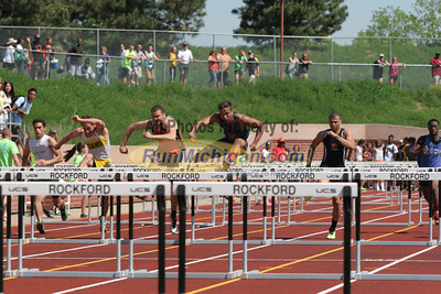 D1 Boys' and Girls' High Hurdle Prelims - 2014 MHSAA LP T&F Finals