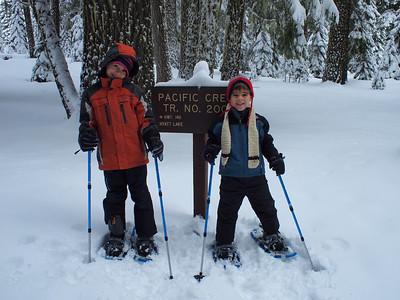 Snowshoeing Kids, 1st Time