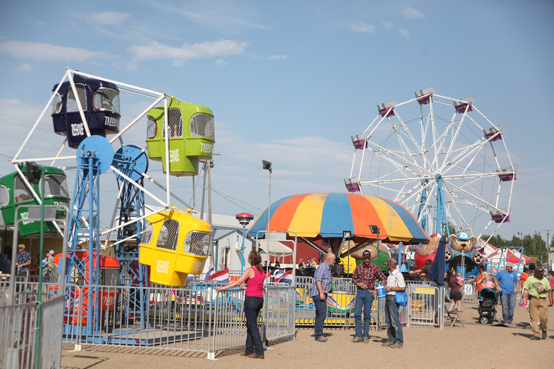 Havre Daily News / Floyd Brandt  On the Midway at the Blain County Fair Saturday.