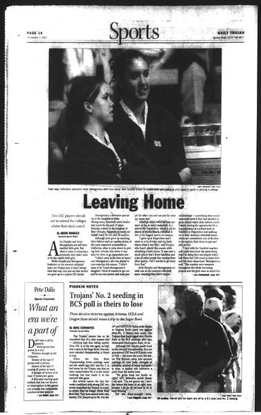 Daily Trojan, Vol. 150, No. 50, November 05, 2003