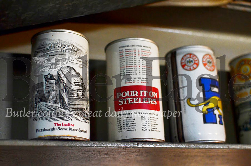 Rich Ordy has about 100 old Iron City Beer cans in his collection. Tanner Cole/Butler Eagle