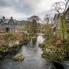 Riverhouses along the River, Betws-y-Coed, Wales