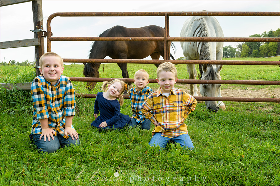 Cousins with Horses