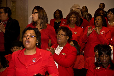 Delta Sigma Theta worship at Central Baptist Church 2013