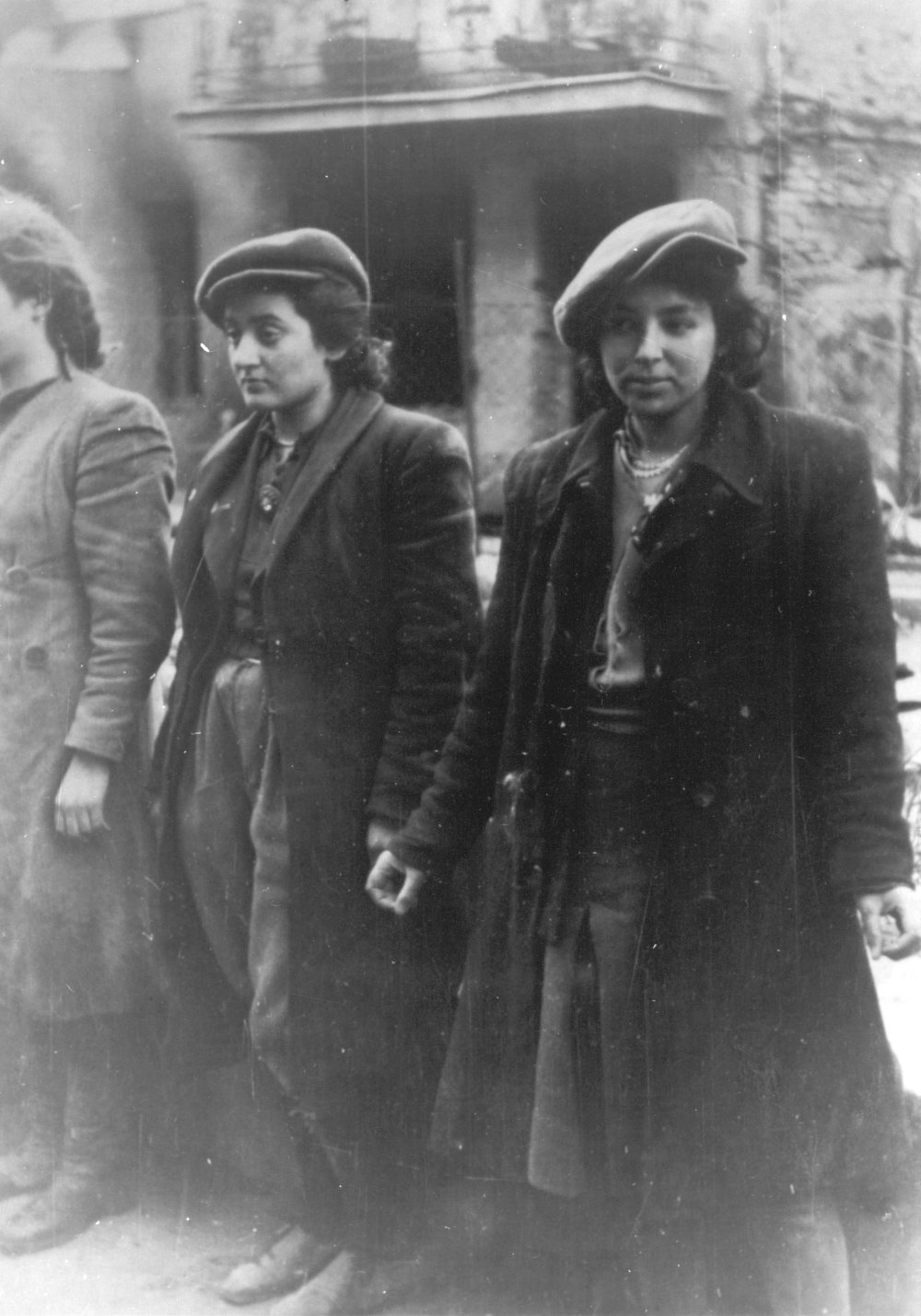 . A group of young Jewish resistance fighters are being held under arrest by German SS soldiers in April/May 1943, during the destruction of the Warsaw Ghetto by  German troops after an uprising in the Jewish quarter. (AP Photo)
