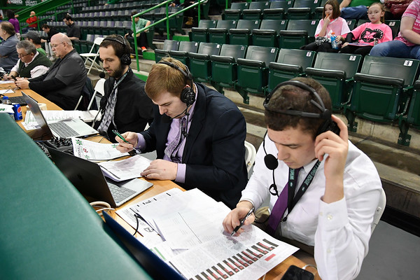 02.23.19 - Broadcast Journalism students-WMUL Radio-basketball game