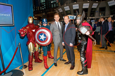 """New York, NY - May 01:  The Opening Bell Celebrating the Release Of """"Marvel's The Avengers"""", New York, USA."""