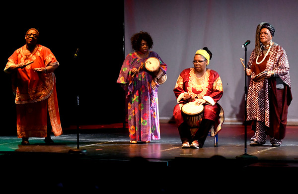 3/24/2018 Mike Orazzi | Staff Nzinga's Daughters perform during The Queen Ann Nzinga Center's 9th annual Connie Wilson Collins Exceptional Women Concert, honoring outstanding women from the Greater Bristol, Plainville and New Britain community, held at Trinity on Main Saturday evening.