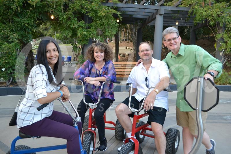 Gabrielle Carlton, Justene Pierce, Michael Frankie and Kidspace CEO Michael Shanklin.JPG