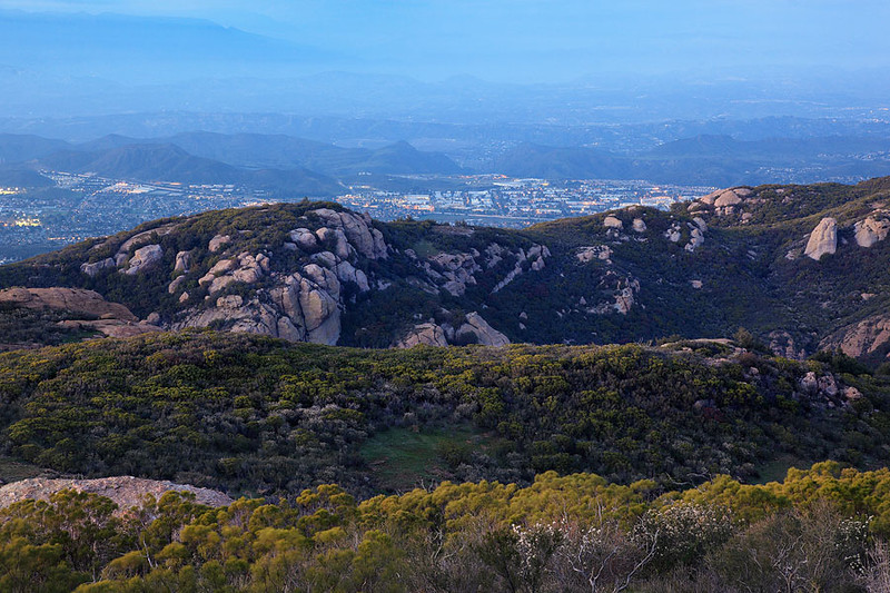 Newbury Park from Sandstone Peak Southern California Chapparal