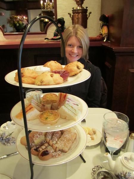 Tea service at the Russian Tea Room