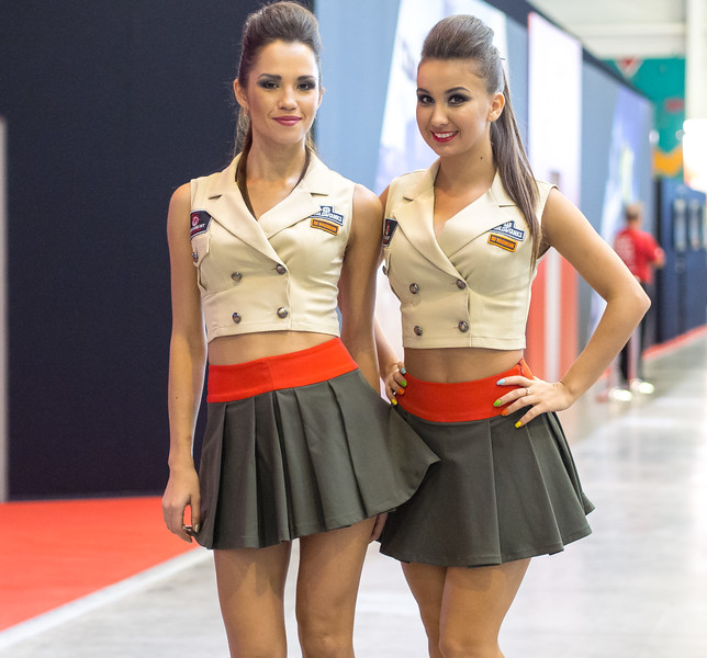 Promo girls at Igromir 2013