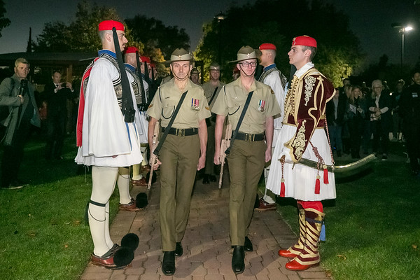 2019 Greek Presidential Guard Dawn Service Adelaide Australia