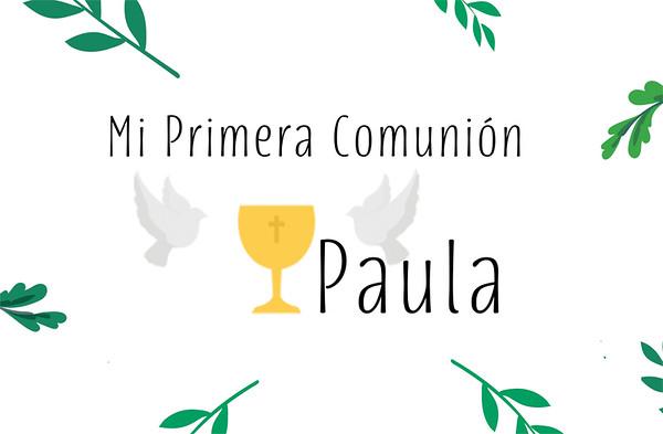 Comunión de Paula - 3 octubre 2020