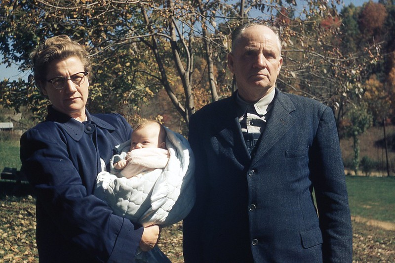 1957 Mr. & Mrs. Burchett and great-granddaughter.jpg